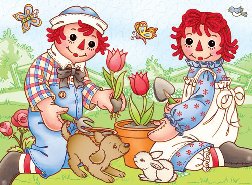 Raggedy Ann & Andy: Picnic Friends - 60pc Jigsaw Puzzle by Masterpieces
