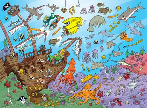 101 Things To Spot: Underwater - 101pc Jigsaw Puzzle by Masterpieces