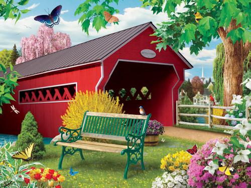 Springtime - 750pc Jigsaw Puzzle by Masterpieces