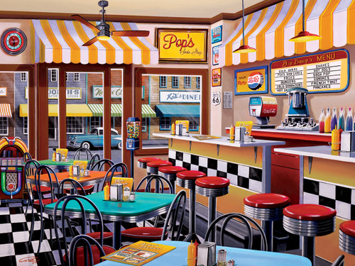 Pop's Soda Fountain - 750pc Jigsaw Puzzle by Masterpieces