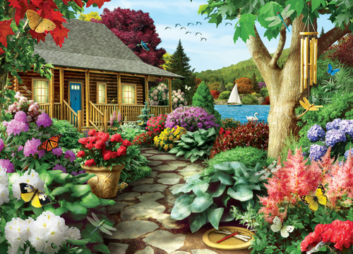 Dragonfly Garden - 1000pc Jigsaw Puzzle by Masterpieces