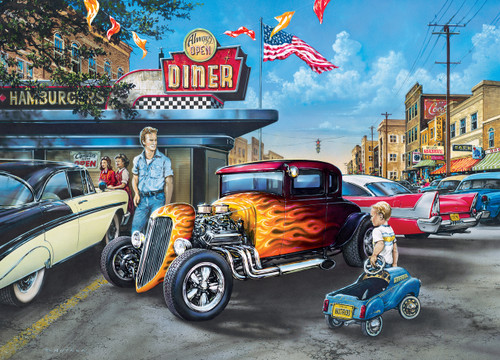 Hot Rods and Milkshakes - 1000pc Jigsaw Puzzle by Masterpieces