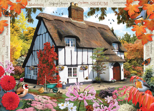 Autumn Cottage - 1000pc Jigsaw Puzzle by Masterpieces