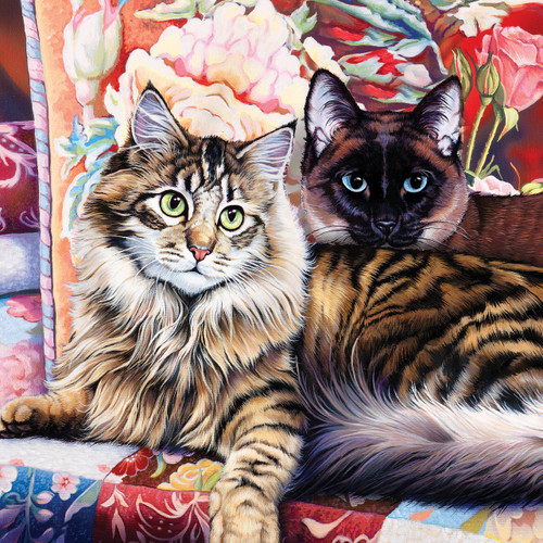 CatOlogy: Raja and Mulan - 1000pc Jigsaw Puzzle by Masterpieces
