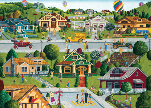 Hometown Gallery: Bungalowville - 1000pc Jigsaw Puzzle by Masterpieces