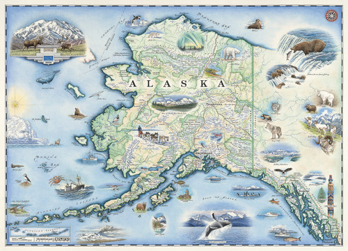 Xplorer Maps: Alaska - 1000pc Jigsaw Puzzle by Masterpieces