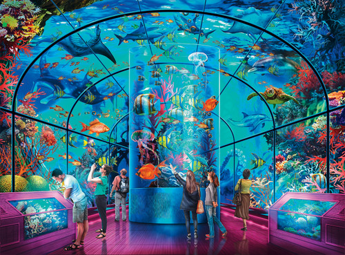 Aquatic Exhibition - 200pc Jigsaw Puzzle By Ravensburger