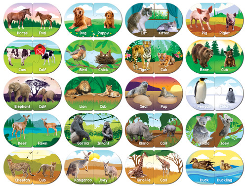 Animals - Educational Matching Puzzle by Masterpieces