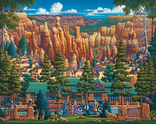 Bryce Canyon National Park - 500pc Jigsaw Puzzle by Dowdle