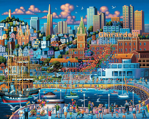 San Francisco Pier - 500pc Jigsaw Puzzle by Dowdle