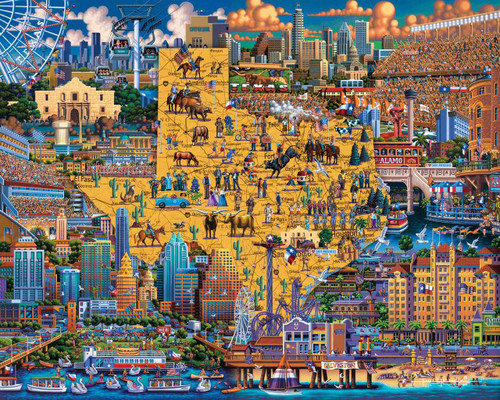 Best of Texas - 500pc Jigsaw Puzzle by Dowdle