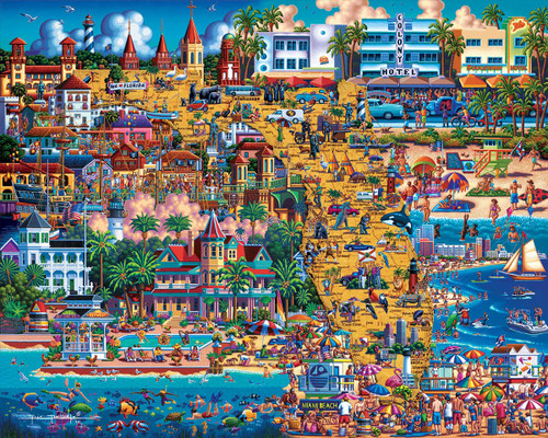 Best of Florida - 500pc Jigsaw Puzzle by Dowdle