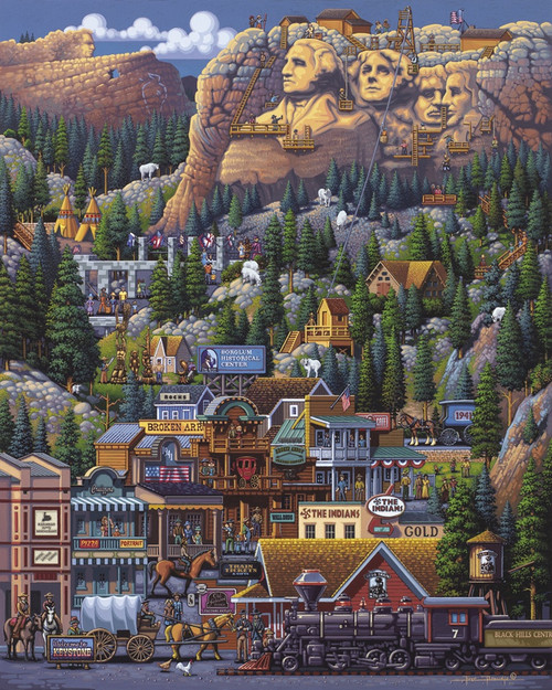 The Black Hills - 1000pc Jigsaw Puzzle by Dowdle