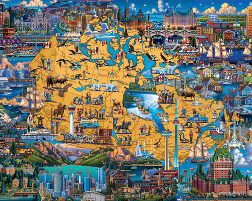 Best of Canada - 1000pc Jigsaw Puzzle by Dowdle