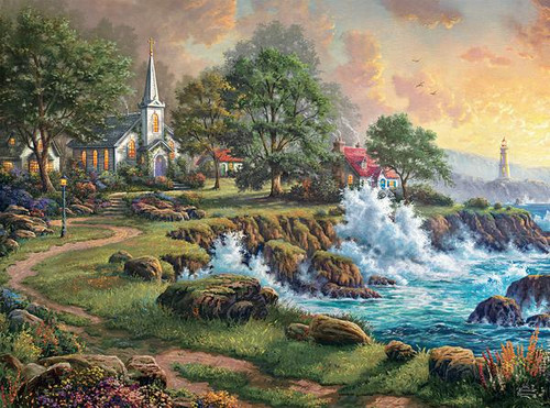 Thomas Kinkade: Seaside Haven - 1000pc Jigsaw Puzzle by Ceaco