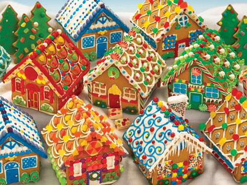 Gingerbead Houses - 350pc Family Jigsaw Puzzle by Cobble Hill