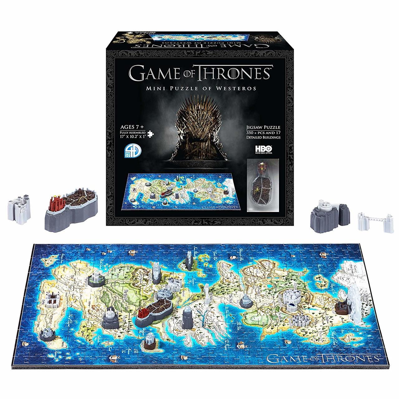 Game Of Thrones Westeros 4d Mini Puzzle By 4d Cityscape Seriouspuzzles Com