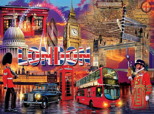 Cities: London - 1000pc Jigsaw Puzzle by Ceaco - SeriousPuzzles.com