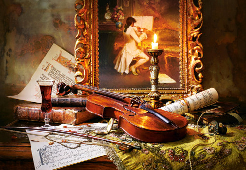 Still Life with Violin and Painting 1000pc Jigsaw Puzzle
