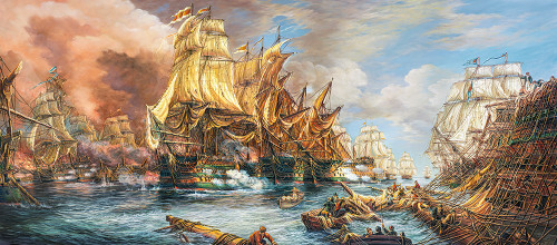 Battle at the Sea 600pc Jigsaw Puzzle By Castorland