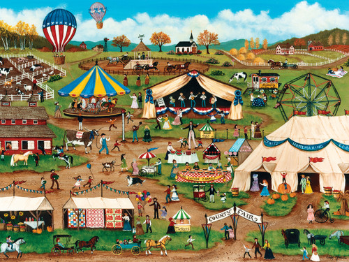 Country Fair - 750pc Jigsaw Puzzle by Masterpieces - SeriousPuzzles.com