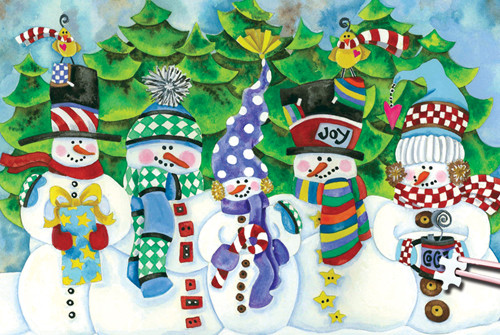 Christmas Jigsaw Puzzles.White Christmas 234pc Tdc Miniature Jigsaw Puzzle