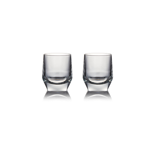 JW Crystal Glass Tumbler x 2