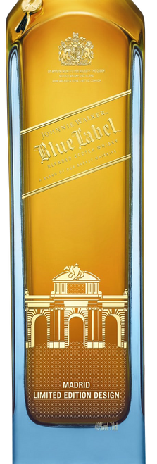 Blue Label Madrid Edition 70cl con un grabado