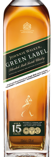 Johnnie Walker Green Label 70cl con un grabado