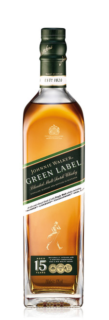 Johnnie Walker Green Label 70cl con etiqueta