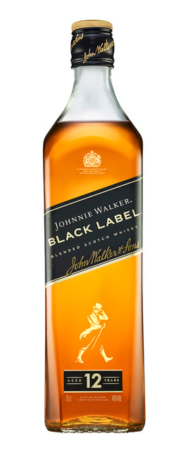 Johnnie Walker Black Label 70cl con etiqueta