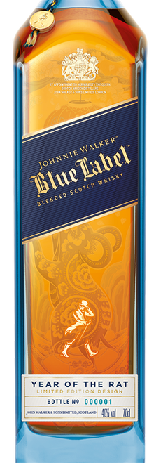 Blue Label Year of the Rat 70cl con un grabado
