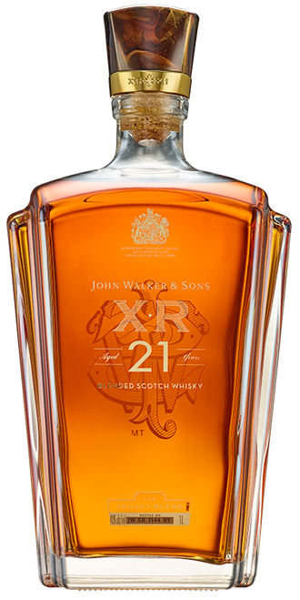 Johnnie Walker XR 21 100cl con un grabado