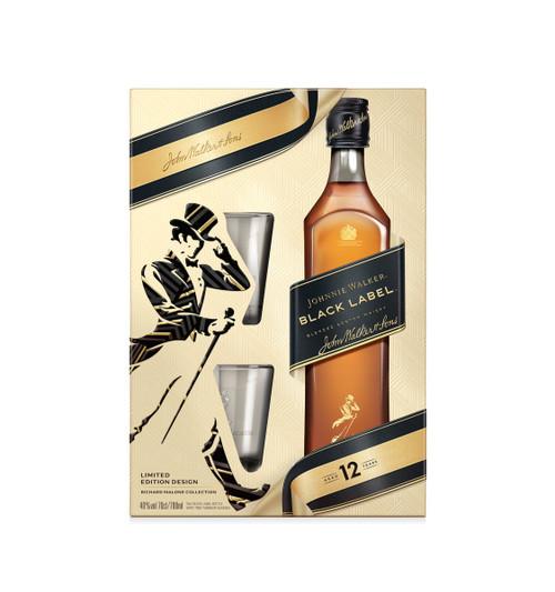 Johnnie Walker Black Label  x2 Glass Pack