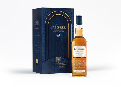 Talisker 41 by Johnnie Walker exterior y botella