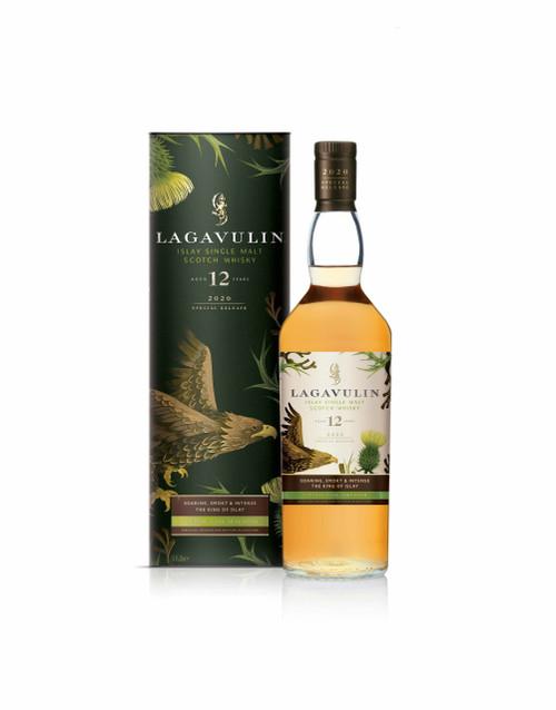 Lagavulin 12 YO Rare by Nature 2020 botella y caja 70 cl