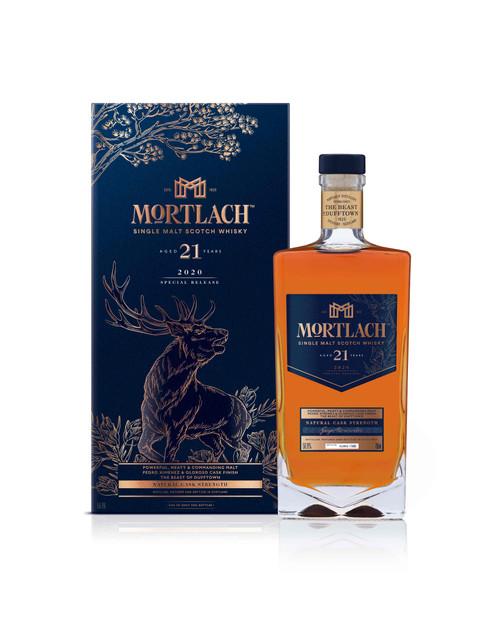 Mortlach 21 YO Colección Special Releases 2020 botella y caja 70 cl