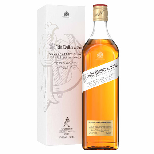 John Walker & Sons Celebratory Blend Edición Limitada botella y caja 70 cl