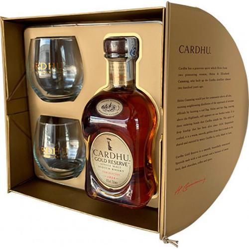 Cardhu Gold Reserve con 2 vasos