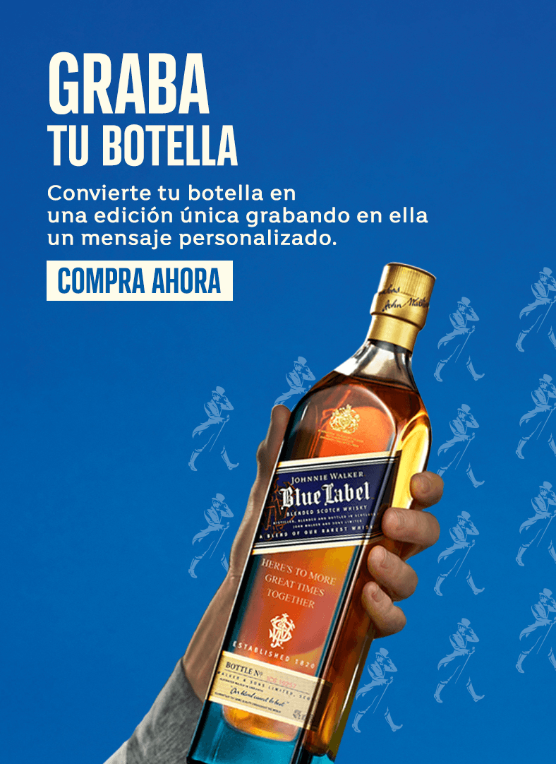 Grabar botella whisky Johnnie Walker