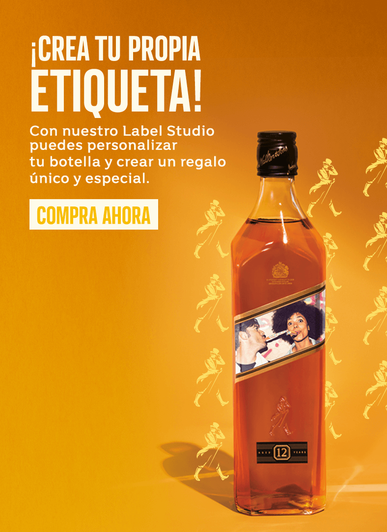 Personalizar etiqueta botella whisky Johnnie Walker