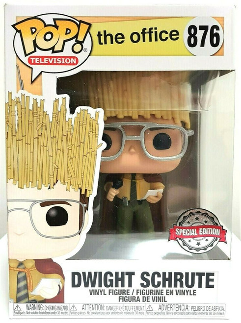The Office Dwight Schrute as Hay King Funko Pop! Television #876 Vinyl Figure - Special Edition