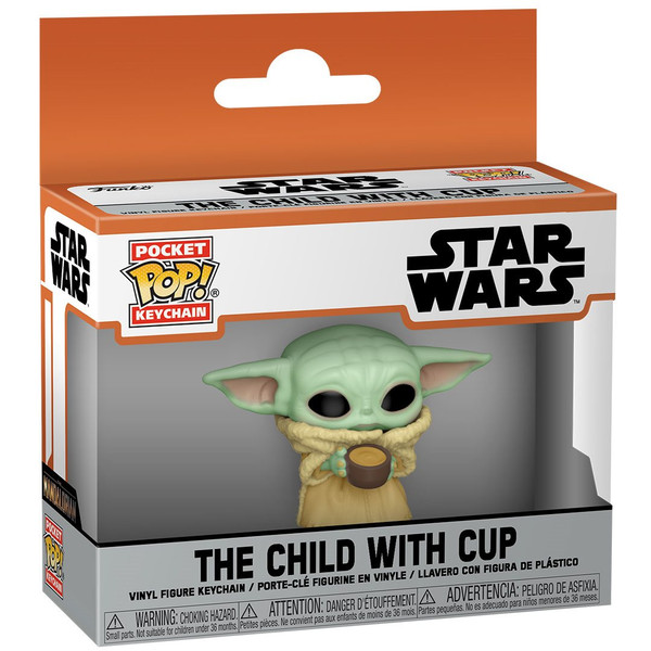 The Mandalorian The Child with Cup Funko Pocket Pop! Keychain