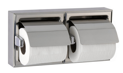 Toilet Tissue Dispenser with Hoods, Bright-Polished