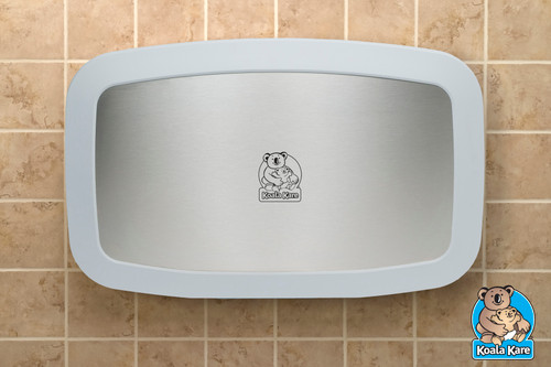 Horizontal Plastic Changing Station with SS Front (White Granite)