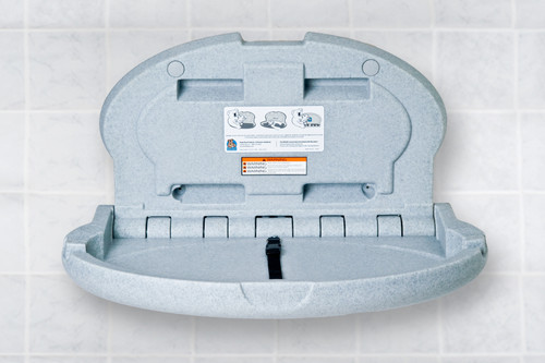 Baby Bear Oval Plastic Changing Station (Grey Granite)