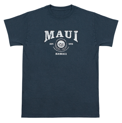 Vintage Dyed Tee - Collegiate MAUI in Blue color