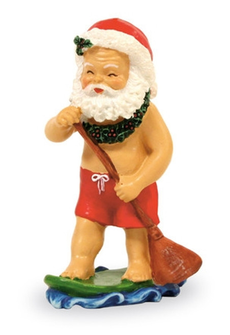 Christmas Ornament- Paddle Boarding Santa