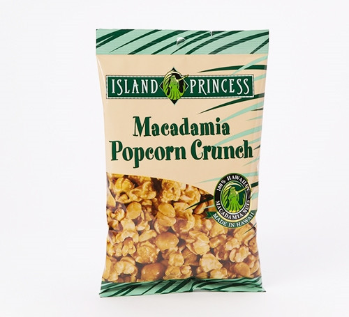 Island Princess Macadamia Nut Popcorn Crunch Bag