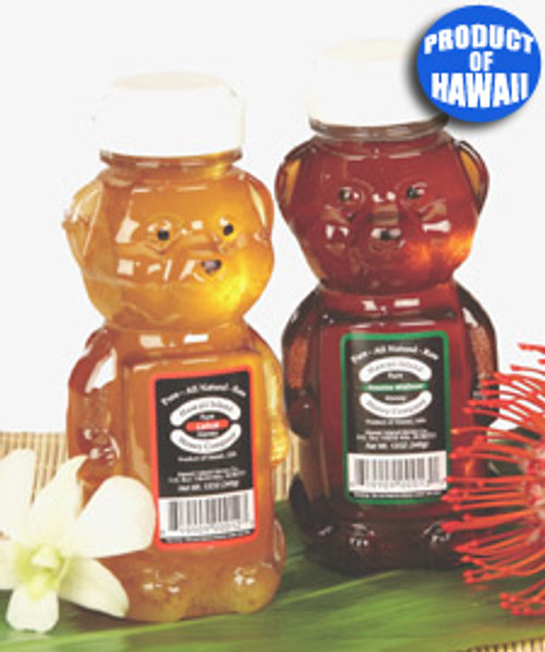 Pure All-Natural Raw Hawaiian Honey Bear in Macadamia and Lehua flavorings
